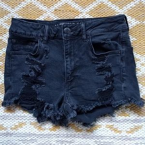 American eagle high rise jean shorts